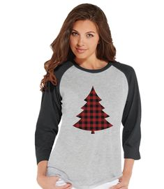 Now available on our store: Women's Christmas.... Check it out here! http://7ate9apparel.com/products/womens-christmas-shirt-plaid-tree-shirt-mom-christmas-present-idea-family-christmas-pajamas-grey-raglan-tee-christmas-gift-idea?utm_campaign=social_autopilot&utm_source=pin&utm_medium=pin