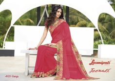 Give yourself a very classy and stylish look, wearing this latest designer pink saree. Free shipping in India.
