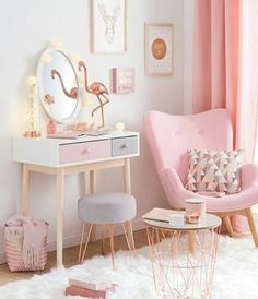 Cute Baby Pink Bedroom