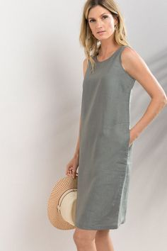 fa4f100e53 Lift your spirits in style with the graceful new Capture Linen Dress - an  airy
