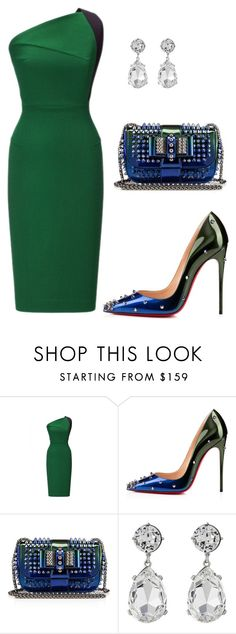 """style theory by Helia"" by heliaamado on Polyvore featuring moda, Roland Mouret, Christian Louboutin e Kenneth Jay Lane"