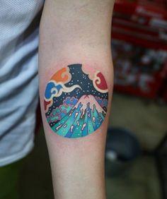 Korean tattoo artist pitta km. Body Art Tattoos, New Tattoos, Sleeve Tattoos, Tattoos For Guys, Tatoos, Unique Tattoos, Beautiful Tattoos, Tattoos For Women Small, Small Tattoos