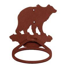 Bear Metal Towel Ring