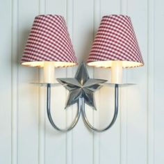 Love your lights this Christmas - with the gift of a new festive shade - this red #gingham candle #shade is just the job!