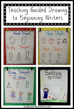 Teaching Guided Drawing to Beginning Writers (Kindergarten Chaos)                                                                                                                                                                                 More