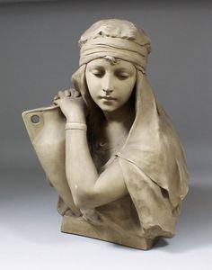 Richard Aurili (1834-circa 1914) - painted terracotta : Lot 1028