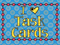 Task Cards-informational site.