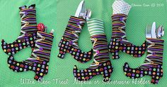 Tutorial: Sew Halloween Witch Shoe Treat Bags or Silverware Holders
