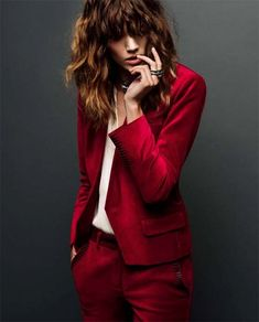 Red Suit!  Freja Beha Erichsen