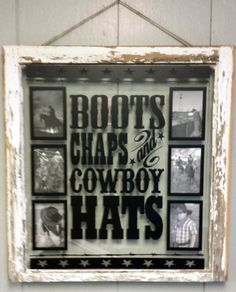 Vintage Window Single Pane Personalized by VaughnCustomCreation, $75.00 Cowboy. Gowgirl. Southern. Texas. Cowboy Boots. Chaps. Hats. Vintage Window. Home Decor. Southern Home. Products. Christmas Gift.
