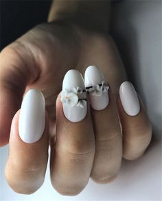 Best Ideas For Your Oval Nails In 2019 Summer – Nail Art Connect – Beauty Wedding Nails Nail Art Design Gallery, Best Nail Art Designs, Beautiful Nail Designs, Tulip Nails, Flower Nails, Oval Nails, My Nails, Polish Nails, Smart Nails