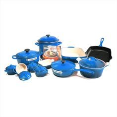 Le Creuset Signature Marseille Blue Mixed 20 Piece Cookware Set >>> See this great product.