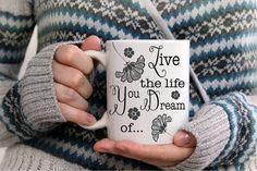 Inspirational Coffee Mug - Inspirational Gift - Life Quote Mug - Girl Empowerment Mug - Typography Mug - Gifts for Her - Coffee Mug by GypsyJunkClothing