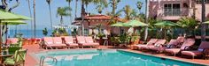 La Valencia - La Jolla. Our own pink palace overlooking the cove and in the heart of the village. 112 guest room, suites and villas.