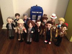 All 12 Doctors Who Time Travel plus War Doctor and TARDIS Crochet Amigurumi PATTERNS Doctor plus Police Box form CRAFTYisCOOL (link to $ etsy patterns)