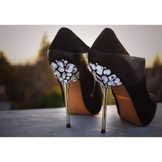 DIY Miu Miu Jeweled Heels Honestly WTF found on Polyvore