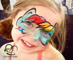 Rainbow Dash mask - a fun design for any My Little Pony party to transform all your guests INTO their favorite pony!