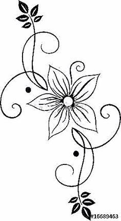 جديد رشمات الطرز والتنبات روعة 2018 - A Mano en hilo mexicano patrones y costura mexicanos para bordar de bordados Hand Embroidery Designs, Embroidery Stitches, Embroidery Patterns, Stencil Designs, Henna Designs, Flower Patterns, Flower Designs, Wood Burning Patterns, Vector Flowers