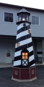 Giant 17' lighthouse replica doubles as storage shed w/ working Light House!