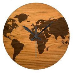 Burning Wood Clocks & Burning Wood Wall Clock Designs | Zazzle