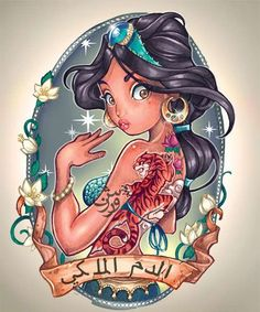 If you've ever wondered what your favorite Disney princesses would look like with tattoo sleeves, Timothy John Shumate's illustrations totally answer your question.