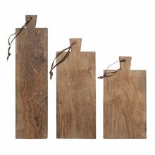 € 40,60 Hkliving Broodplank Teakhout - Set van 3