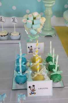 Baby Mickey Mouse Birthday Ideas from Fête à Porter Featured @ www.partyz.co your party planning search engine!