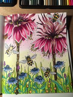 Dagdrommar coloring book - with Prismacolor pencils