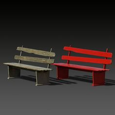 Public bench / traditional / in wood / with backrest CF 003 by Jacques Gabel MASSANT