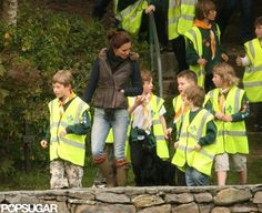 Catherine hiking with scouts and Lupo 5/9/12. #Kate #Middleton