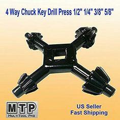"""4 Way Chuck Key 1//4/"""" to 1//2/"""" BULK 10 Pack"""