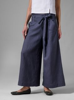 Linen pants, Wide Leg Pants, palazzo pants, pleated pants, Pleated ...