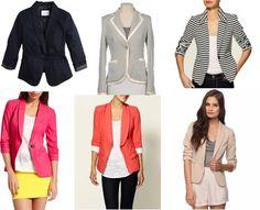 Six blazer choices