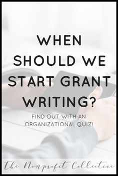 When is your organization ready to research and write a grant? Here is a quiz to see if your organization is ready for grant writing. Grant Proposal Writing, Grant Writing, Nonprofit Fundraising, Fundraising Ideas, Apply For Grants, Writing Process, Writing Resources, Non Profit, Helping People