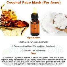 Shared by AcneSkinSite. Find images and videos about coconut, acne and face mask on We Heart It - the app to get lost in what you love. Diy Skin Care, Skin Care Tips, Skin Tips, Chocolate Face Mask, Beauty And The Beat, Acne Mask, Tea Tree Essential Oil, Essential Oils, Homemade Facials