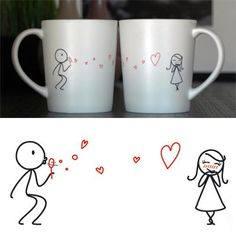 """""""From My Heart to Yours"""" His & Hers Coffee Mug Set"""