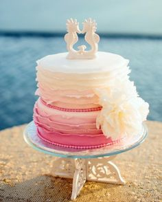78 best beach wedding cakes images on pinterest beach wedding ombre coconut beach wedding cake junglespirit Image collections