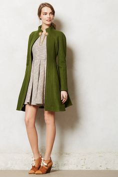"Skyscape Coat - anthropologie.com By Nanette Lepore Zip front Wool, nylon; viscose, acetate lining Dry clean 39""L USA Style #: 29263779"