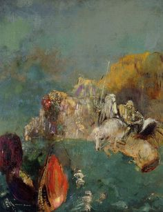 Odilon Redon - Saint George and the Dragon. 1909
