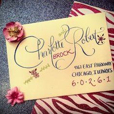 Nationwide Wedding Calligraphy Service