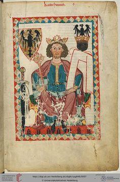 Codex Manesse, Kaiser Heinrich, Fol 006r, c. 1304-1340