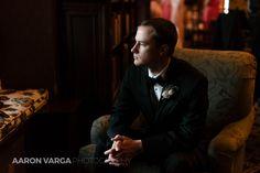 Groom portrait window light   Pittsburgh Athletic Association wedding   Pittsburgh wedding photographers   Aaron Varga Photography