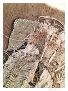 She who becomes between Awake and Dreaming - UnRuly Cloth and Canvas @ milliande.com , Contemplative Art Textiles