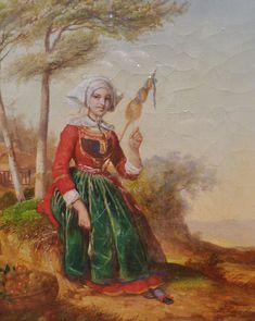 Louis Caradec: Fileuse de Rosporden-Fouesnant (Musée départemental breton de Quimper)