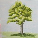 PEINDRE UN ARBRE À L'AQUARELLE FACILEMENT Mona Lisa, Drawing Sketches, Drawings, Watercolor Trees, Drawing Techniques, Botanical Illustration, Beautiful Landscapes, Art Inspo, Painting & Drawing