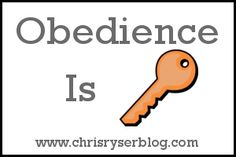 Great blog post about walking in God's timing via obedience.