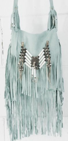 Mint fringe bag in hippie hippy boho bohemian gypsy style. For more follow www.pinterest.com/ninayay and stay positively #pinspired #pinspire @ninayay