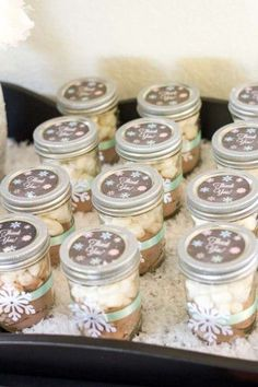 9 Winter Baby Shower Favors Your Guests Will Love- Hot Cocoa Mason Jars