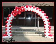 Balloon Arch,  Ballonnenboog polkadot www.crearose.nl