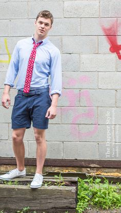 model Brent Denny in a preppy summer style featuring @Ivy Prepster